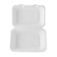 9''*6''*3'' Biodegradable Sugarcane Clamshell Boxes