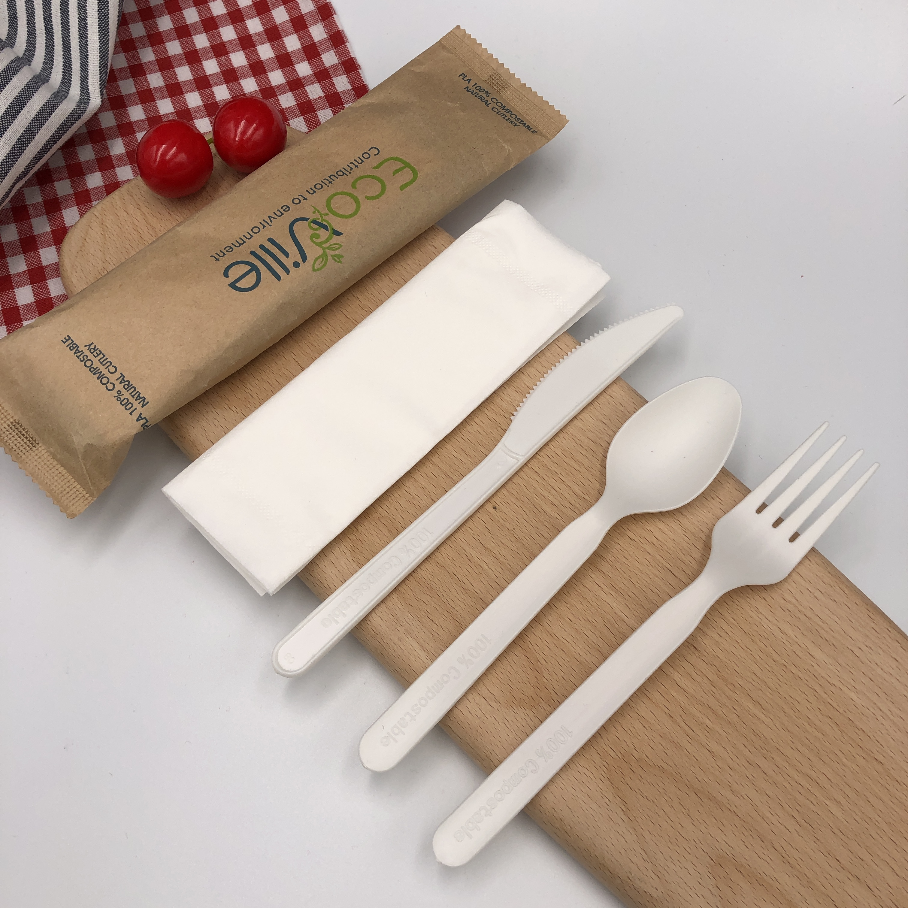 Biodegradable Disposable CPLA Cutlery Set
