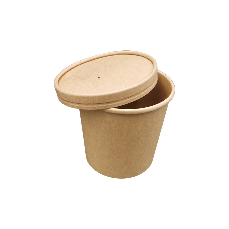 20OZ Degradable Paper Soup Cup with Lid