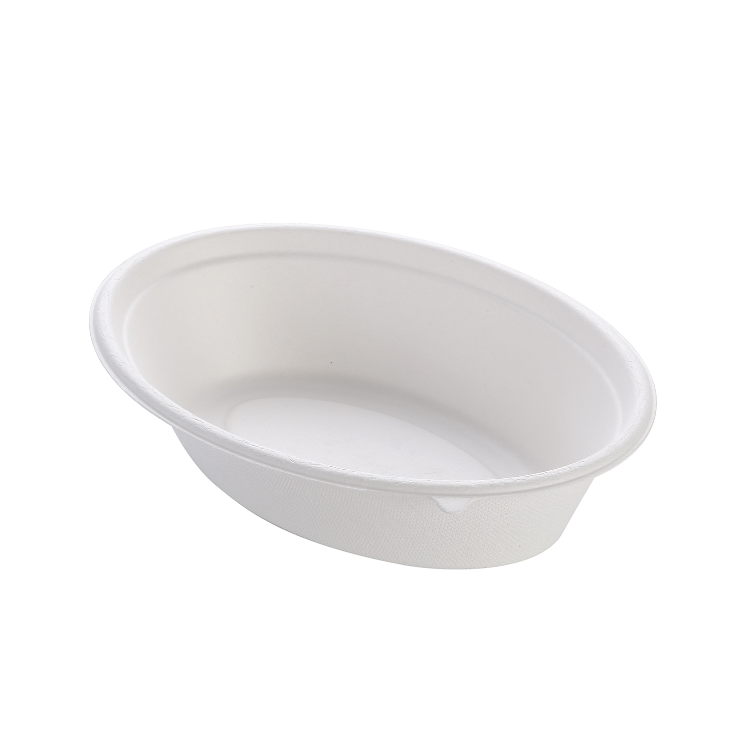 32 OZ 100% Degradable Bagasse Oval Bowl